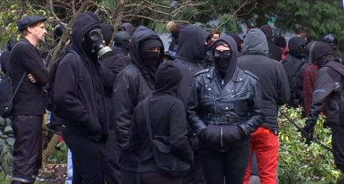 Antifa Punks Deface Oregon War Memorial in Violent Protest