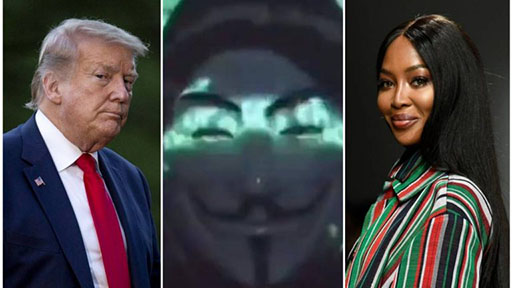 Anonymous: Donald Trump and Naomi Campbell named in Epstein ring