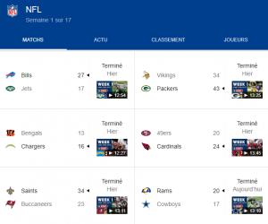 NFL scores 2020